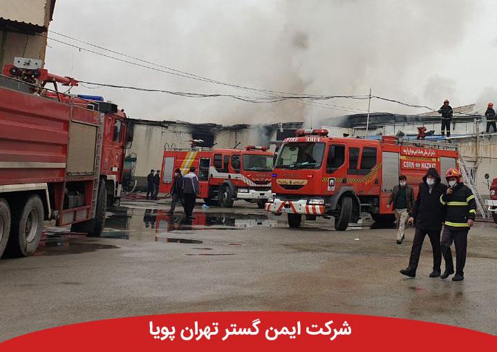 مهار آتشسوزی در یکی از آپارتمانهای شهرک خاتمالانبیا