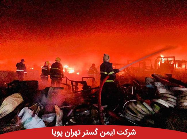 آتش سوزی گسترده در مرکز بغداد با موفقیت اطفا شد