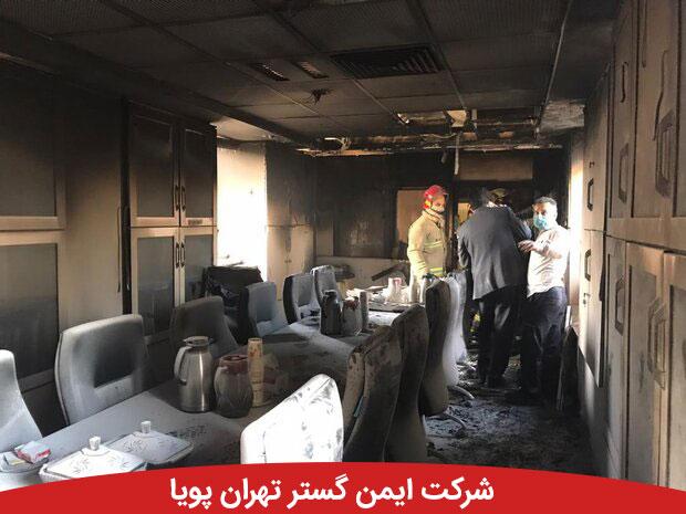 آتش سوزی در بخش اداری بیمارستان بقیه الله | حادثه مصدومی نداشت