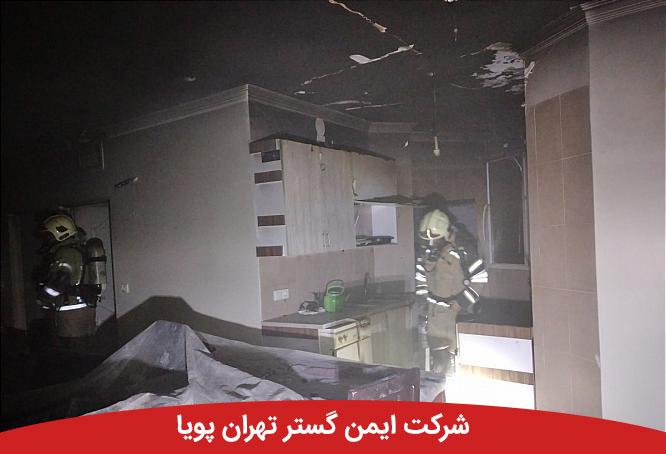 آتش به جان آشپزخانه منزل مسکونی در بلوار فردوس افتاد